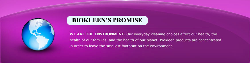 environmental quote, environmental promise, environmental friend, biokleen ethosolution