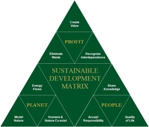 Sustainable Development Matrix, green development strategy, people planet profit, eco development, sustainable building, land development, ethosolution idea, responsible living